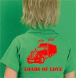 Polo personalizado con camion y texto loads of love para san valentin