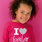 Camiseta personalizada con I love bailar