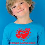 Camiseta personalizada con corazon y texto rompecorazones