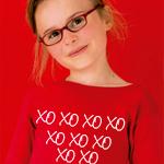 Camiseta personalizada con texto XO XO XO
