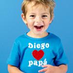 Camiseta personalizada corazon papa