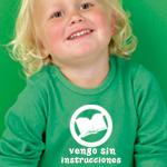 Camiseta personalizada vengo sin instrucciones
