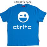 Camiseta papa personalizada ctrl+c