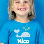 Baleia de cor Nico