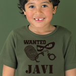 Camiseta manga corta personalizada con dibujo y texto